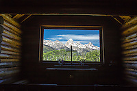 Church of the Transfiguration. The view out the window of the Grand Tetons is really special. Grand Teton National park