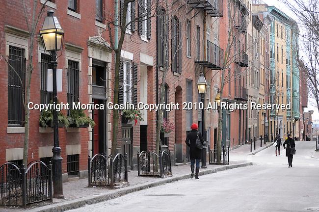 A street in Beacon Hill in Boston, MA.