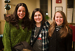 WATERBURY,  CT-011417JS20--Patti Paganucci of Southbury, left, with Marissa White and Nicole Thomas, both of Waterbury, during opening night of &quot;Showstoppers: Broadway at Seven Angels Theatre&quot;. <br /> Jim Shannon Republican-American