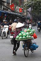 Street vendor in Hanoi<br /> Old town , January 2016