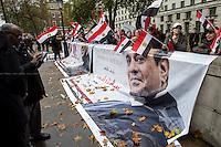05.11.2015 - Demos Pro & Against Egyptian President Abdel Fattah el-Sisi Visit to the UK