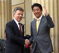 Shinzo Abe Primer Ministro de Japon en visita oficial  a Colombia