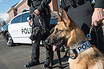 The Ohio Univeristy Police Department welcome Brody, a new explosive detection canine, into their department. Photo by Ben Siegel