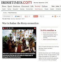 Screengrab of &quot;War in Sudan: the Kerry connection&quot; published in The Irish Times