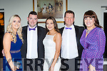 Chloe O'Connor, Oisin O'Mahony, Megan O'Connor, John Lieghio and Lynda O'Mahony at the Kerry Stars ball in the Malton Hotel on Friday night