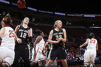 Army Black Knights forward/center Aimee Oertner (33) reacts to being called for a foul during Friday's NCAA Division I basketball game against the Ohio State Buckeyes at Value City Arena in Columbus on December 13, 2013. (Barbara J. Perenic/The Columbus Dispatch)