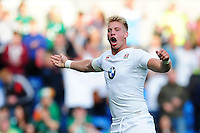 Harry Mallinder of England U20 celebrates scoring a try in the first half. World Rugby U20 Championship Final between England U20 and Ireland U20 on June 25, 2016 at the AJ Bell Stadium in Manchester, England. Photo by: Patrick Khachfe / Onside Images