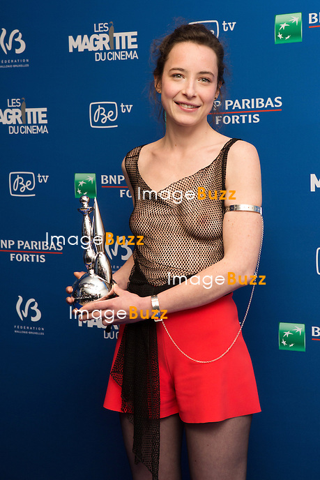 Salom&eacute; Richard( Magritte du meilleur espoir f&eacute;minin ) : 7&egrave;me C&eacute;r&eacute;monie des Magritte du Cin&eacute;ma, qui r&eacute;compense le septi&egrave;me art belge, au Square, &agrave; Bruxelles - Salle de presse.<br /> 7th edition of the Magritte du Cinema awards ceremony - Press Room<br /> Belgium, Brussels, 4 February 2017