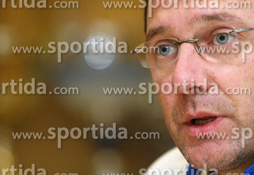 Director of National Teams Andrej Jelenc at Press Conference of Kayak and Canoe Federation of Slovenia, on November 29, 2007 in Ljubljana, Slovenia . (Photo by Vid Ponikvar / Sportal Images).
