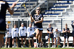 DURHAM, NC - FEBRUARY 26: Notre Dame's Hannah Proctor. The Duke University Blue Devils hosted the University of Notre Dame Fighting Irish on February, 26, 2017, at Koskinen Stadium in Durham, NC in a Division I College Women's Lacrosse match. Notre Dame won the game 12-11.