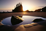 Sunset on Second Beach, Olympic National Park, Washington, USA