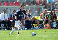 August 07 2010 Chivas USA midfielder Ben Zemanski #21 in action during a game between Chivas USA and Toronto FC at BMO Field in Toronto..Toronto FC won 2-1.