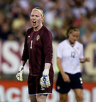Hedvig Lindahl. The USWNT defeated Sweden, 3-0.