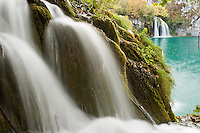 Waterfalls in autumn, Milanovac lake, Lower lakes, Plitvice National Park, Croatia