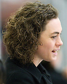 Melanie Ruzzi (Harvard - Assistant Coach) - The Harvard University Crimson defeated the St. Lawrence University Saints 8-3 (EN) to win their ECAC Quarterfinals on Saturday, February 26, 2011, at Bright Hockey Center in Cambridge, Massachusetts.