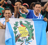 Guatemala fans.   Mexico defeated Guatemala 2-1 in the quaterfinals for the 2011 CONCACAF Gold Cup , at the New Meadowlands Stadium, Saturday June 18, 2011.