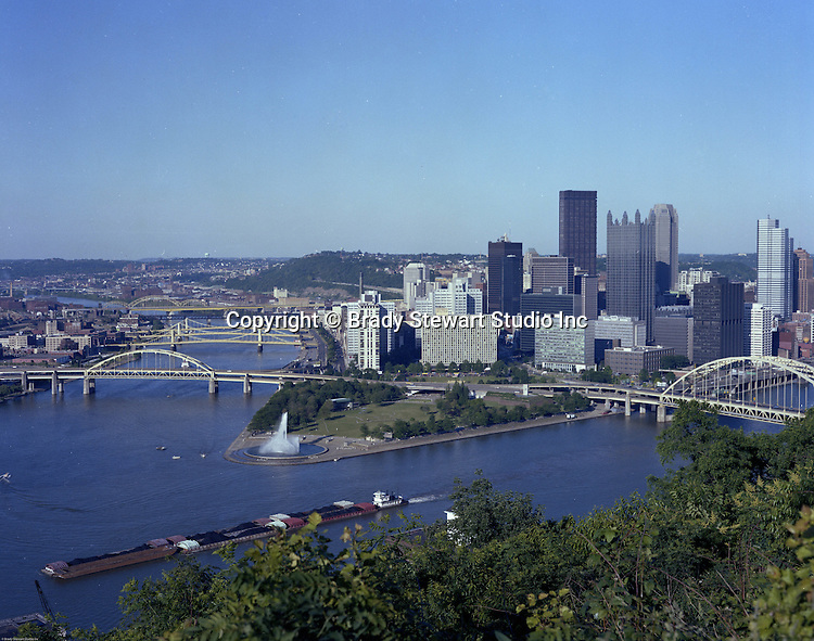Pittsburgh PA - A view of the Golden Triangle of Pittsburgh from Mount Washington 1985