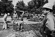 Manhattah, NYC, Summer 1966 -- Repair of the water pipes on 1st Ave. in front of Con Edison's power plant.