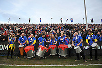 Jamma de Samba perform at half-time. European Rugby Champions Cup match, between Bath Rugby and RC Toulon on January 23, 2016 at the Recreation Ground in Bath, England. Photo by: Patrick Khachfe / Onside Images