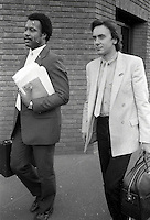Pix: Copyright Anglia Press Agency/Archived via SWpix.com. The Bamber Killings. August 1985. Murders of Neville and June Bamber, daughter Sheila Caffell and her twin boys. Jeremy Bamber convicted of killings serving life...copyright photograph>>Anglia Press Agency>>07811 267 706>>..Colin Caffell (right), father and husband of victims, at court. no date..ref 00011 neg 23..
