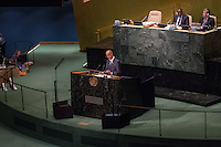 NEW YORK, NY - SEPTEMBER 23 : Prime Minister Antoni Martí Petit speech at the General Debate of the 71th Session at the United Nations on September 23, 2016 in New York, VIEWpress/Maite H. Mateo
