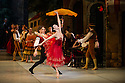 London, UK. 30.03.2013. The Mikhailovsky Ballet present DON QUIXOTE at the London Coliseum. Picture shows: Ivan Vasiliev (Basilio) and Natalia Osipova (Kitri). © Jane Hobson.