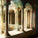 Classical Roman architecture. Photo based illustration.