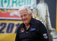 Sep 25, 2016; Madison, IL, USA; NHRA top fuel driver Chris Karamesines during the Midwest Nationals at Gateway Motorsports Park. Mandatory Credit: Mark J. Rebilas-USA TODAY Sports