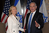 United States Secretary of State Hillary Rodham Clinton meets with Prime Minister Benjamin Netanyahu of Israel in Sharm El Sheikh, Egypt, on Tuesday, September 14, 2010. .Credit: Department of State via CNP.