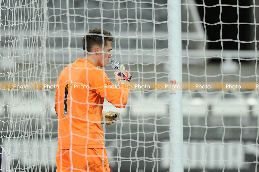 A dejected Freddie Woodman after the opening goal of the game - Newcastle United Under-21 vs Arsenal Under-21 - Barclays Under-21 Premier League Football at St James Park, Newcastle United FC - 09/02/15 - MANDATORY CREDIT: Steven White/TGSPHOTO - Self billing applies where appropriate - contact@tgsphoto.co.uk - NO UNPAID USE