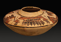 Clay jar with painted decoration, 1400-1635, by  Hopi artist, from the collection of the Denver Art Museum, Denver, Colorado, USA. Picture by Manuel Cohen