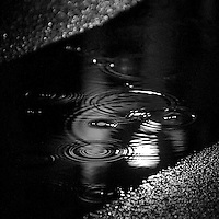 Black raindrops