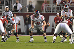 Ole Miss center Evan Swindall (56) at Bryant-Denny Stadium in Tuscaloosa, Ala.  on Saturday, October 16, 2010. Alabama won 23-10.