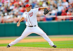 6 March 2011: Washington Nationals' pitcher J.D. Martin on the mound during a Spring Training game against the Atlanta Braves at Space Coast Stadium in Viera, Florida. The Braves shut out the Nationals 5-0 in Grapefruit League action. Mandatory Credit: Ed Wolfstein Photo