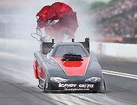 May 1, 2016; Baytown, TX, USA; NHRA funny car driver Todd Simpson during the Spring Nationals at Royal Purple Raceway. Mandatory Credit: Mark J. Rebilas-USA TODAY Sports