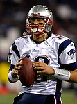 18 November 2007: New England Patriots quarterback Tom Brady warms up prior to a game against the Buffalo Bills at Ralph Wilson Stadium in Orchard Park, NY. The Patriots defeated the Bills 56-10 in their second meeting of the season...Mandatory Photo Credit: Ed Wolfstein Photo
