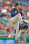 13 April 2008: Atlanta Braves' pitcher Tom Glavine on the mound against the Washington Nationals at Nationals Park, in Washington, DC. The Nationals ended their 9-game losing streak by defeating the Braves 5-4 in the last game of their 3-game series...Mandatory Photo Credit: Ed Wolfstein Photo