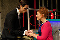 "London, UK. 11/11/2011. ""EX"", a new musical, opens at the Soho theatre. A Two's Company and Soho Theatre production, written by Rob Young, music by Ross Lorraine and directed by Tricia Thorns. Picture shows Simon Thomas (as Keith) and Amy Booth-Steel (as Ruby). Photo credit: Jane Hobson"