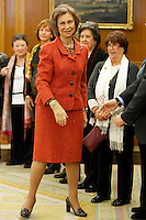 Queen Sofia of Spain Attend Audiences