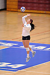 03 DEC 2011:  Ellie Duffy (12) of Concordia University St. Paul serves against Cal State San Bernardino during the Division II Women's Volleyball Championship held at Coussoulis Arena on the Cal State San Bernardino campus in San Bernardino, Ca. Concordia St. Paul defeated Cal State San Bernardino 3-0 to win the national title. Matt Brown/ NCAA Photos