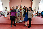 Joe, John, Father Joseph Feeney, Lucille, Allison, and Julie Ann at Saint Patrick's Church in Granlahan, County Roscommon, Ireland on Tuesday, June 25th 2013. (Photo by Brian Garfinkel)