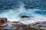 Frenchmans Bay at Schoodic Point in Acadia National Park, Downeast, ME, USA