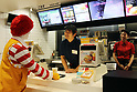 Comedian Kenji Hamatani attends one-day trainee program for McDonald's in Japan