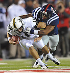 Mississippi linebacker Denzel Nkemdiche (4) sacks Vanderbilt quarterback Jordan Rodgers (11) at Vaught-Hemingway Stadium in Oxford, Miss. on Saturday, November 10, 2012. (AP Photo/Oxford Eagle, Bruce Newman)