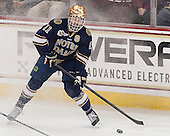 Jeff Costello (ND - 11) - The visiting University of Notre Dame Fighting Irish defeated the Boston College Eagles 7-2 on Friday, March 14, 2014, in the first game of their Hockey East quarterfinals matchup at Kelley Rink in Conte Forum in Chestnut Hill, Massachusetts.