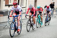 Picture by Alex Whitehead/SWpix.com - 11/05/2017 - Cycling - Tour Series Round 2, Stoke-on-Trent - Matrix Fitness Grand Prix Series - Team Breeze's Manon Lloyd (second left)