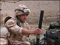 BNPS.co.uk (01202 558833)<br /> Pic: TimelessDeception/BNPS<br /> <br /> 51mm mortar - in Helmund province 2008<br /> <br /> A hardened medic in the Special Boat Service has made a drastic career change - after starting out as a professional magician. <br /> <br /> Steel Johnson quit his 10 year military career after enduring two hellish tours of Iraq and Afghanistan.<br /> <br /> The 32-year-old is now fulfilling his childhood dream of performing magic full-time. <br /> <br /> Steel, whose real name is James, has practiced sleight of hand tricks since the age of nine.