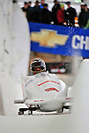 5 January 2008: NHRA 1994 Rookie of the Year Bob Vandergriff heads down the Chicane straightaway at the NASCAR vs NHRA Bobsled Elimination Challenge at the Olympic Sports Complex on Mount Van Hoevenberg, in Lake Placid, New York. ..Mandatory Photo Credit: Ed Wolfstein Photo