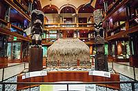 Wooden carvings of the Hawaiian deities Ku and Kane, the Bishop Museum, Honolulu, O'ahu.