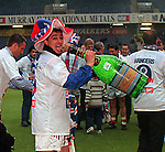 Charlie Miller celebrating back at Ibrox as Rangers seal 9 in a row league titles